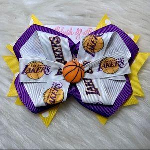 🎀🏀 LA Los Angeles Lakers Hair Bow 🏀🎀